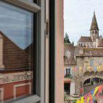 Vue de Semur-en-Auxois depuis l'Chambre 402 à l'Hôtel relais de la Côte-d'Or à Semur-en-Auxois Bourgogne