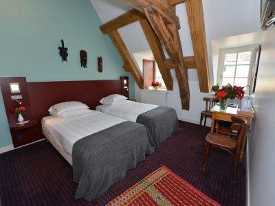 Vue de la chambre 201 Chambre 402 à l'Hôtel relais de la Côte-d'Or à Semur-en-Auxois Bourgogne