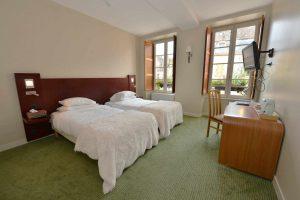 Une chambre à l'Hôtel relais de la Côte-d'Or à Semur-en-Auxois Bourgogne